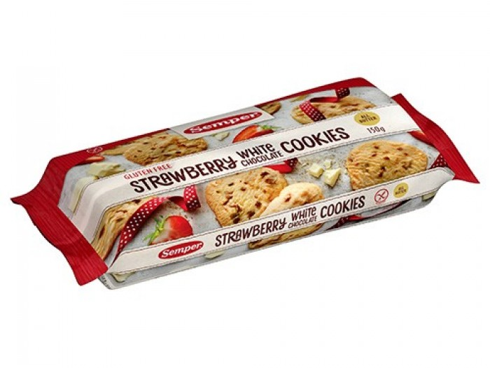 Semper Strawberry White cookies