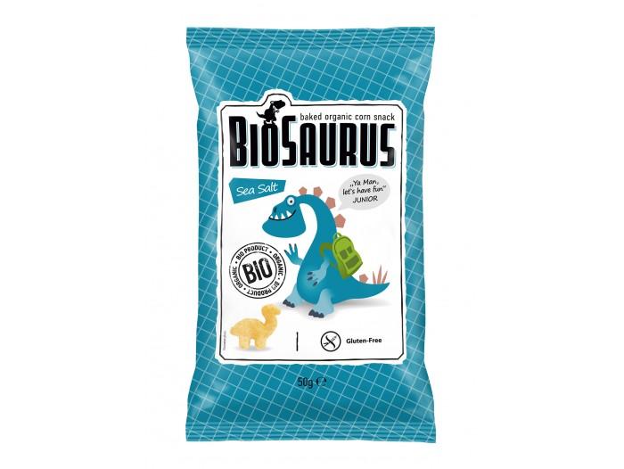 Biosaurus mais-snacks m/havsalt Øko