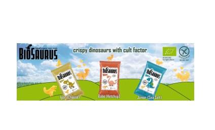 BIOSAURUS Glutenfri Økologisk Snacks