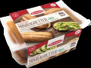 Minibaguetter Fiber Semper Glutenfritt bröd