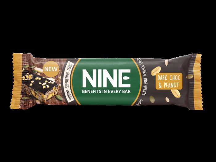 NINE BAR mørk sjokolade og peanøtt