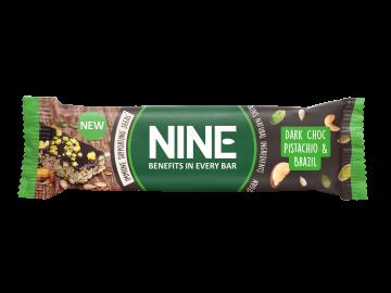 NINE BAR mørk sjokolade, pistasj og paranøtter