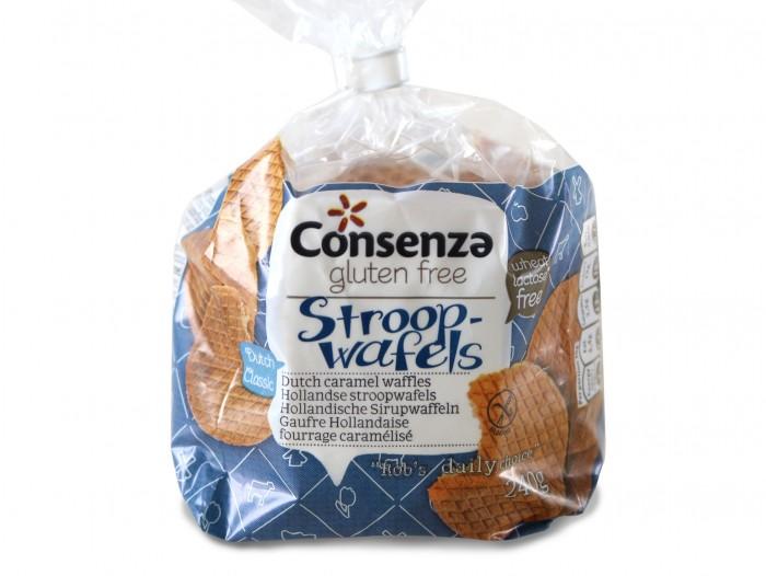 Consenza glutenfrie Nederlandske karamellvaffler