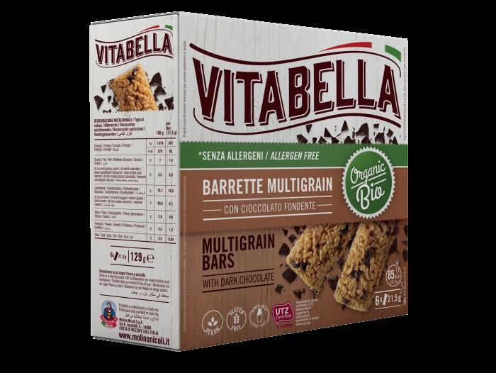 Vitabella Multigrain Barette med sjokolade 6 barer